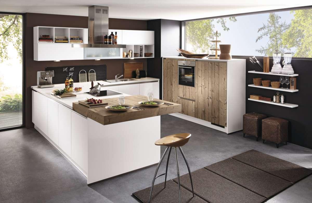Moderne U-Küche mit Theke | {Moderne küchen mit theke 55}