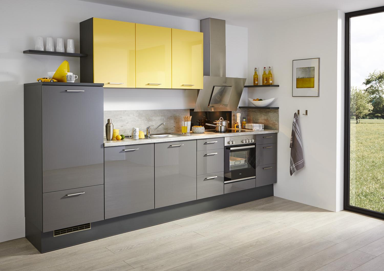 Küchenzeile mit gelben Oberschränken Burger Susann